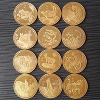 zodiac gold plated coin for sale
