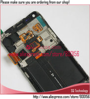 white for samsung i9070 for galaxy s advance lcd display+touch screen digitizer with frame and home button assembly