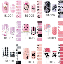 Hot selling eco-friendly nail polish sticker/full nail stickers/manicure paste