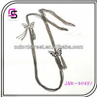 Butterfly Metal Necklace,Oxidised Long Chain Necklace,Fashion Ladies Zinc Alloy Necklace