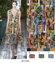 wholesale digital print newest European style dresses for women 2015