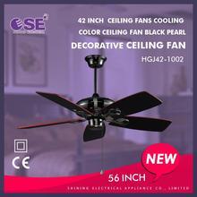 ceiling fans blade home ceiling fan with metal blades black color decorative ceiling fan HGJ42-1002