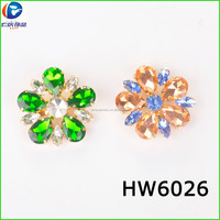 Dark green water drop make up round flower buckle for shoes upper for summer beach wear connect buckle