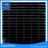 2016 KB STONE Cheap price basketweave pattern multi size black marble mosaic floor tile design