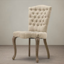 Luxury Tufted Wooden Dinning Chair with Buttons