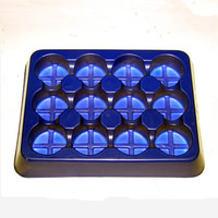 PET food grade 12 cells plastic macaron tray