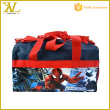 Cartoon character 600D Polyester Duffle Bag with Printed PVC Side Panels, cheap children travel bag