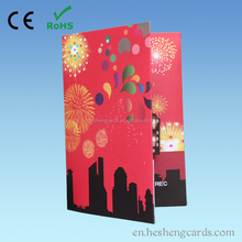 Top quality custom make musical greeting card music chip for card recordable sound chip business card