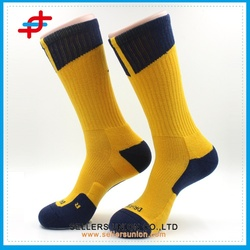 Polyester dryfit training basketball socks/Heel cushion professional sports direct basketball socks for man dryfit available