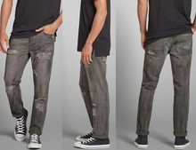 fashion design 2015 high quality destroyed grey wash men jean