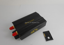 multiple vehicle tracking device gps tracker 103A+ /B+ with dual sim card .Lock/unlock central locking relay