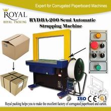 Good quality semi automatic carton box strapping machine price