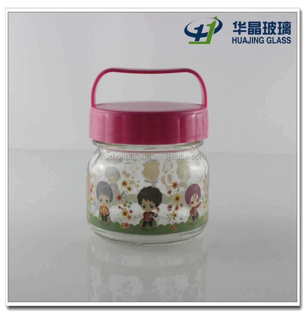 180ml 6oz cute glass baby food jars wholesale for candy with carried plastic cap buy glass. Black Bedroom Furniture Sets. Home Design Ideas