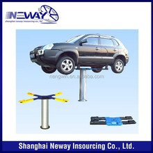 hydraulic single post lift for car wash