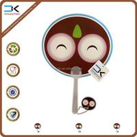 Night owl design cartoon handle held fan ready stock for wholesale