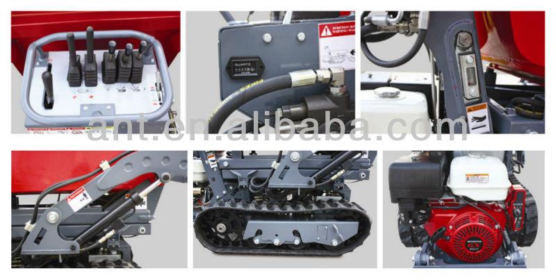 Hydrostatic Transmission Mini Tank : By tracked wheel barrow electric wheelbarrow