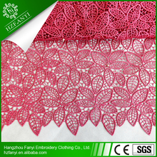 2015 hot sale african guipure lace /cord lace fabric for dress thanksgiving Christmas party