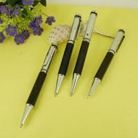 Silver & Black Ballpoint Pen Mini Computer Thread finish Parker style Retractable Ball Pen Retail Shop Design Ball Pens