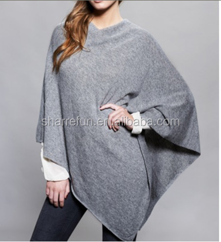 100 reine frauen kaschmir pashmina strickmuster poncho. Black Bedroom Furniture Sets. Home Design Ideas