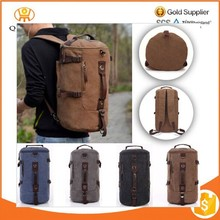 Men's Canvas Backpack Laptop Shoulder Travel Hiking Camping Bag