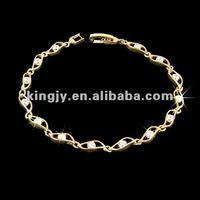 18k 22k gold plated bracelet with CZ stone,gemstone bracelet