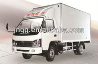 Chinese high quality diesel small box van truck 2 ton
