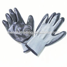 13G nylon glove with Super Quality Nitrile plam dipped Nylon Working Glove