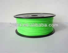 3D printer filament Glowing Green ABS 1.75MM / 3.00MM