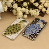 full diamond luxury peacock transparency cellphone case for iphone 4/4s/5/5s/5c/6