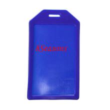 Blue Vertical Polyvinylchlorid ID Cards Badges Holders 10.4cm x5.9cm