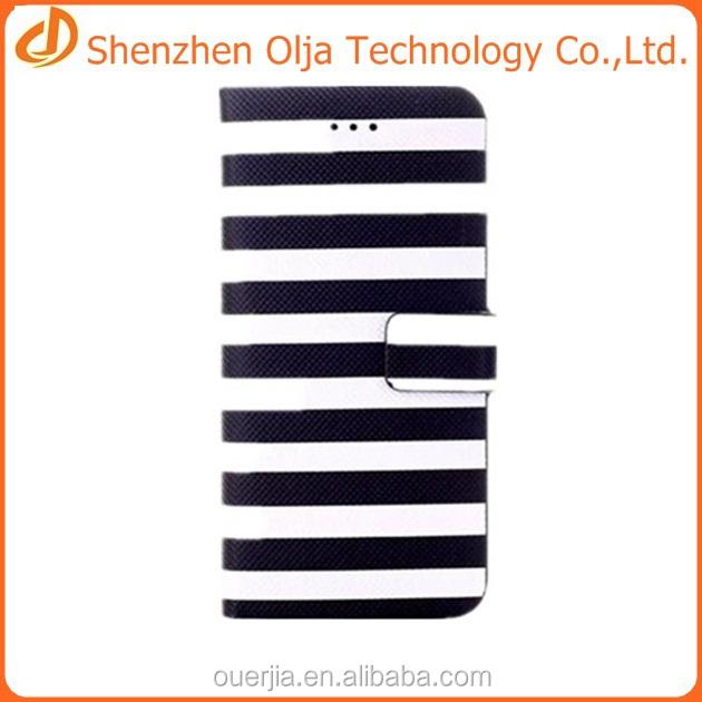 Colorido stripe wallet caso capa para o iphone 6 para o iphone 6 acessórios para celular