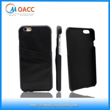 Genuine leather 2 card slots back for iphone 6 wallet case