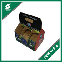 TOP SALE CORRUGATED DISPLAY STANDERS CARDBOARD MILK PACKING CARRIERS AND HOLDERS WITH HANDLE