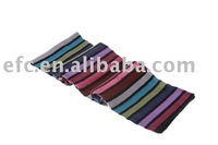 Acrylic Double Knitted Colorful Knit Striped Scarf Pattern