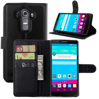 PU Leather Wallet Cover For LG G4 Case