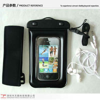 High quality waterproof cell phone bag for iphone5 with earphone