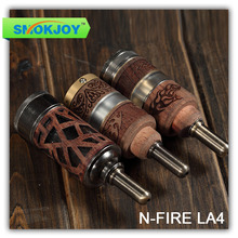 2014 SMOKJOY dual coil wooden n fire la4 new e-cigarette rebuildable vaporizer