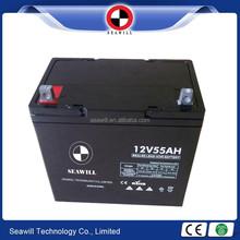 Long life MF battery 12v 55Ah UPS battery for UPS