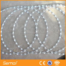 Good Quality High Tensile Galvanized Sharp Razor Blade Barbed Wire For Security Fence With ISO Certification