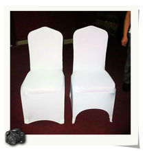 Lycra Spandex Chair Covers Black Arch Front XL-PYC1