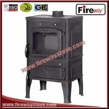 High rated output cast iron material wood burning stove