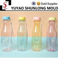 Korean Style Cute Transparent Coke bottle shape soda bottles handle plastic water bottles