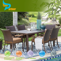 Delicate Balcony Set Stone Top Table Meuble De Jardin Garden Furniture