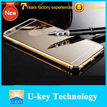 2015 hot selling luxury golden mirror aluminum metal case for iphone 6 6plus