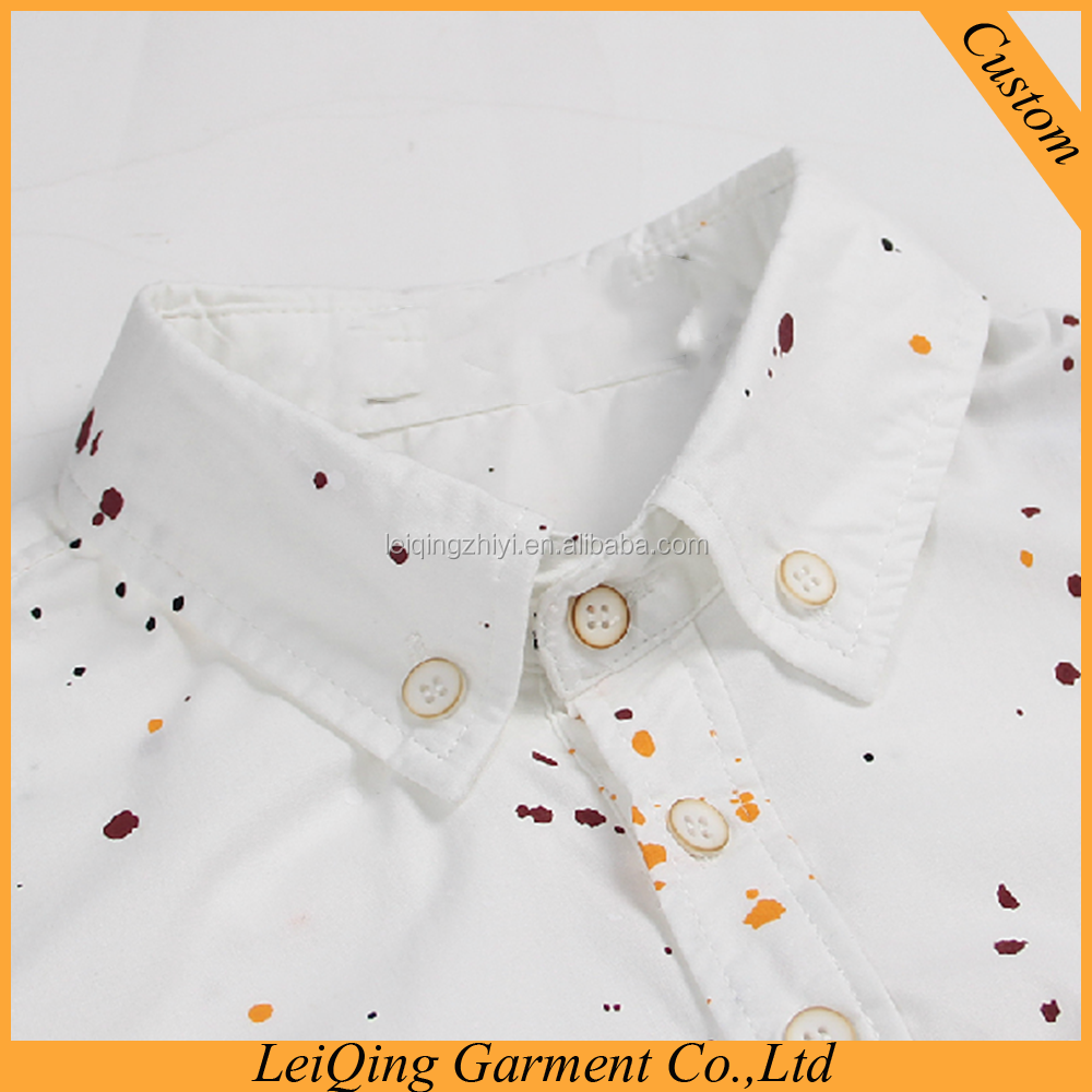 Summer Newest Style White Paint Point Casual Shirts For