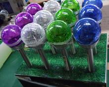 glass ball stake solar light,multi colored solar garden lights High Quality Multi Colored Solar Garden Lights