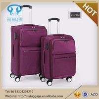2015 New Design polo luggage with 4 universal wheels