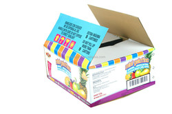 E flute color corruagted cardboard boxes packaging fruits