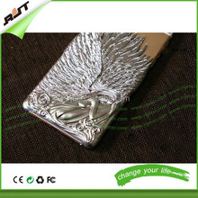 New arrival plating phone case 3D angel wings hard back cover case for iphone 6 6 plus case