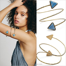 2015 new gold bracelet models snake triangular spathic arm bracelet and Bangle